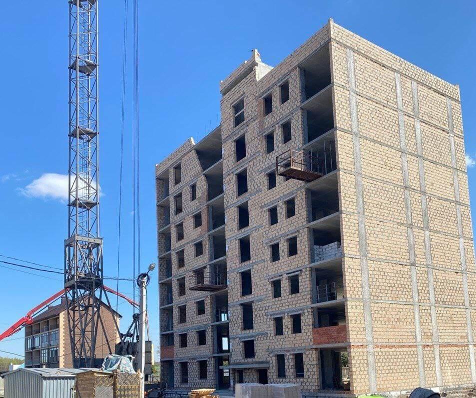 """Дом """"Власна 3"""": ведётся подготовка для бетонирования плиты перекрытия 6 этажа."""